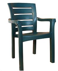 Кресло пластиковое Irak Plastik Didim белый зеленый