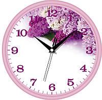 """Стильные настенные  часы  """"Ветка сирени"""" (300х300х45 мм) ЮТА"""