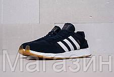 Мужские спортивные кроссовки Adidas Iniki Runner Boost Navy, Адидас Иники синие, фото 2
