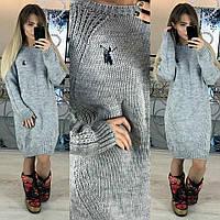 Вязаное платье 2045 Турция-Б