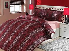 Постельное белье HOBBY сатин-люкс Imperial полуторный красный