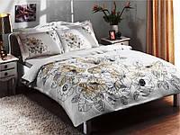 TAC SATEN LINUS -Золотой евро Постельное белье комплект