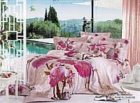 Постельное белье ARYA друкований Сатин Розовый Flowers