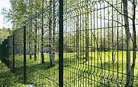Забор из сварной сетки с услугами монтажа для дачи и дома  3/4 2,5 х 2,0м.