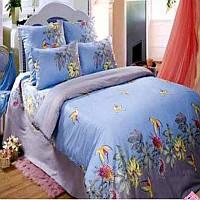 Love You Эдем голубой евро Комплект постельного белья