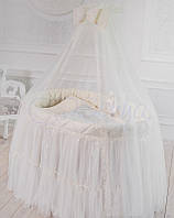 Комплект постельного белья в детскую овальную кроватку, Ovaldress L'collection, МС10