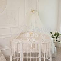 Комплект постельного белья в детскую овальную кроватку All Baby, МС12