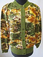 Женские кофты на пуговках с цветами., фото 1