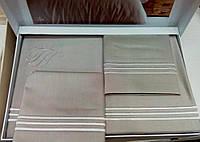 Комплект постельного белья Tivolyo Home LINE NAKISLI Бежевый евро