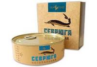Севрюга натуральная в собственном соку Премиум консервированная SK-FISH 240г