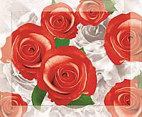 Картина на стекле с МДФ подложкой Красные Розы 50*60 см