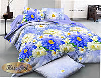"""Набор постельного белья двуспальный """"Blue flowers""""."""