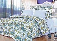 Постельное белье комплект ARYA сатин+шелк PUPILLA евро голубой
