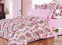 Комплект постельного белья ARYA сатин+шелк PUPILLA евро розовый
