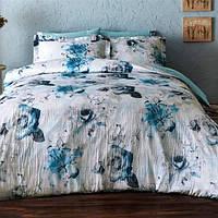 Постельное белье Tivolyo Home  DONNA  евро голубой