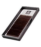 Темно-коричневые ресницы Barbara,изгиб С,D,один размер ,16 линий