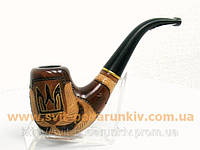 Курительная трубка  ручной работы «Герб Украины» 020, памятный подарок