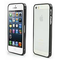 Чехол бампер Slim Metal для iPhone SE 5S 5 черный