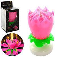 Аксессуары для праздника, свеча, 11см, цветок, MK1531