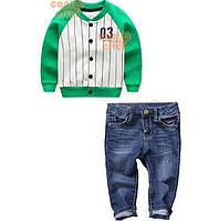 Костюм джинсы и кофта бомбер