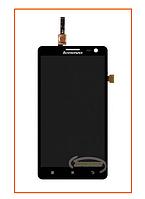 Дисплей Lenovo S856 с сенсором (тачскрином) Black Original