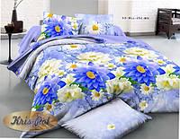 """Набор постельного белья семейный """"Blue flowers""""."""