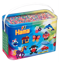 Термомозаика Hama - Набор цветных бусин 30.000 шт midi, 22 цвета (208-67)