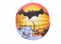 Подвесной декор шар бумажный к хеллоуину, 25 см.