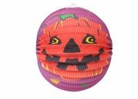 Подвесной декор шар бумажный к хэллоуину, 25 см.