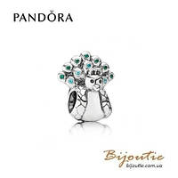 Pandora Шарм ПАВЛИН #791227MCZ серебро 925 Пандора оригинал