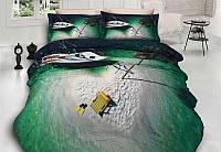 Комплект постельного белья First Choice 3 D ISLAND евро
