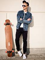 Мужская  молодёжная джинсовая  куртка