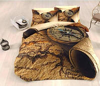 Комплект постельного белья First Choice 3 D COMPASS евро