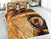 Комплект постельного белья Nazenin satin 3D MAP евро
