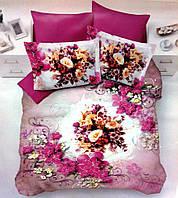 Комплект постельного белья Nazenin satin 3D Liliac евро