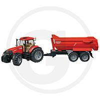 03099 Трактор Case IH Puma 230 CVX с прицепом-самосвалом Krampe