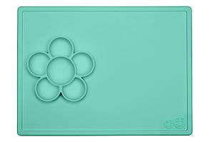 EZPZ - Силиконовый коврик flower play, цвет mint