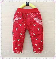 Детские красные брюки для девочки Минни Маус