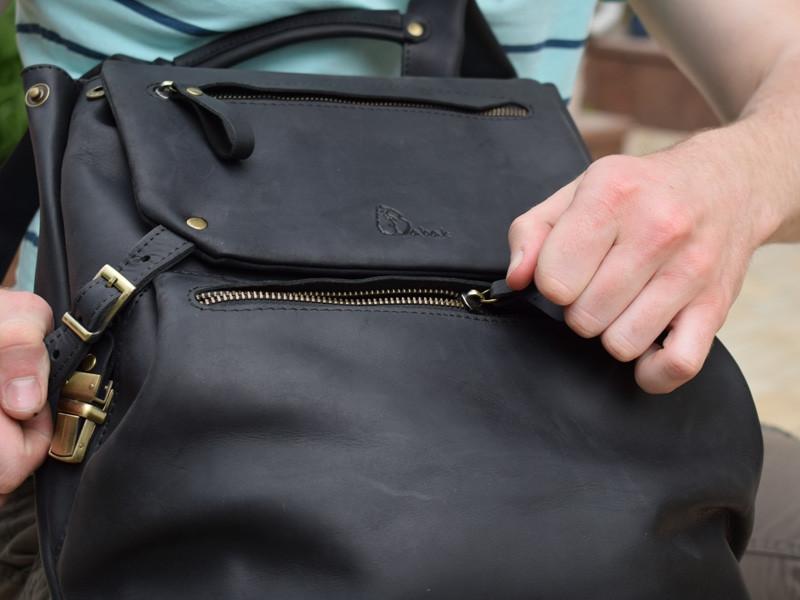 """Самый функциональный рюкзак из натуральной кожи """"Crazy Horse"""""""