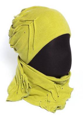 """Модный женский комплект (шапка и шарф) """"Роза"""""""