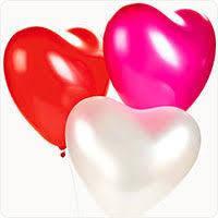 """Гелиевые шары 10"""" (25 см) сердце ассорти"""