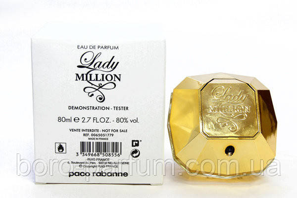 Paco Rabanne Lady Million TESTER 80мл женский