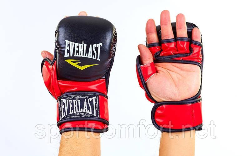 Перчатки для смешанных единоборств Elast 4612 (полиуретан) красные