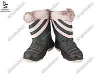 Подростковые сапоги розовые (Код: ДББ-21)