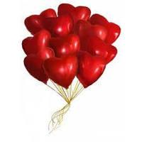 """Гелиевые шары 11"""" (28 см) сердце ассорти"""