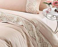 Комплект постельного белья Gelin Home KELEBEK BEJ Бежевый евро