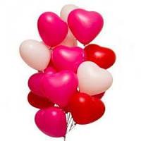 """Гелиевые шары 17"""" (44 см) сердце ассорти"""
