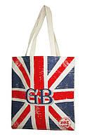 """Эко-сумка хлопковая 41,5*38см """"Британский флаг"""", 600014"""