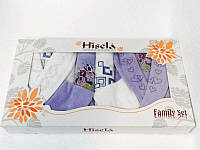 Набор халатов и полотенец, Hisena kadife 2 халата + 4 полотенца 2