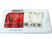 Набор халатов и полотенец, Anemon kadife 2 халата+ 4 полотенца 1
